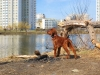 Бруно на озере, уже в Москве