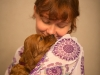 Девочка с бордовой ленточкой, 5 недель